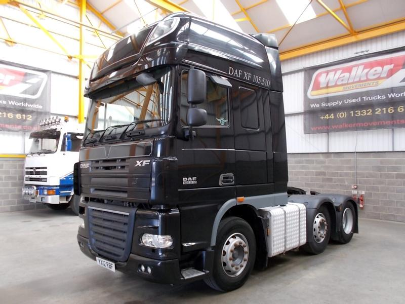 Daf XF105, 510 SUPERSPACE EURO 5, 6 X 2 TRACTOR UNIT - 2012 - YX12 RBF
